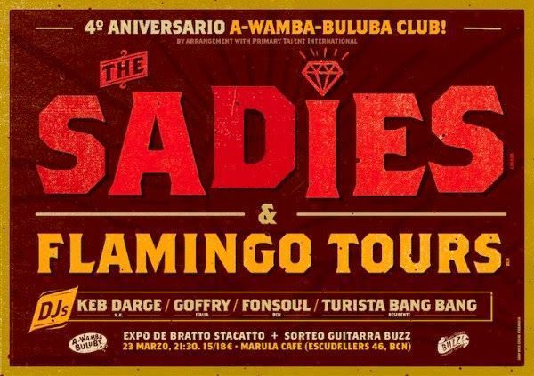 The Sadies y Flamingo Tours en el aniversario de A Wamba Buluba Club