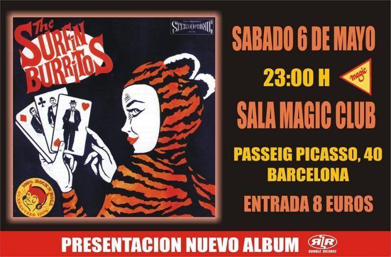 Surfin Burritos presentarán disco en el Magic