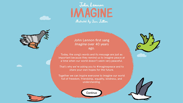 John Lennon: Imagine – Jean Jullien (Flamboyant)