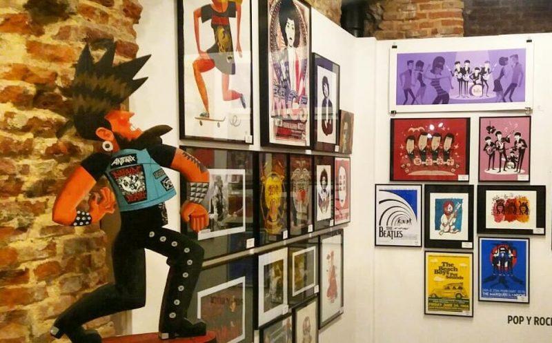 Exposición Locos por la música en La Fiambrera